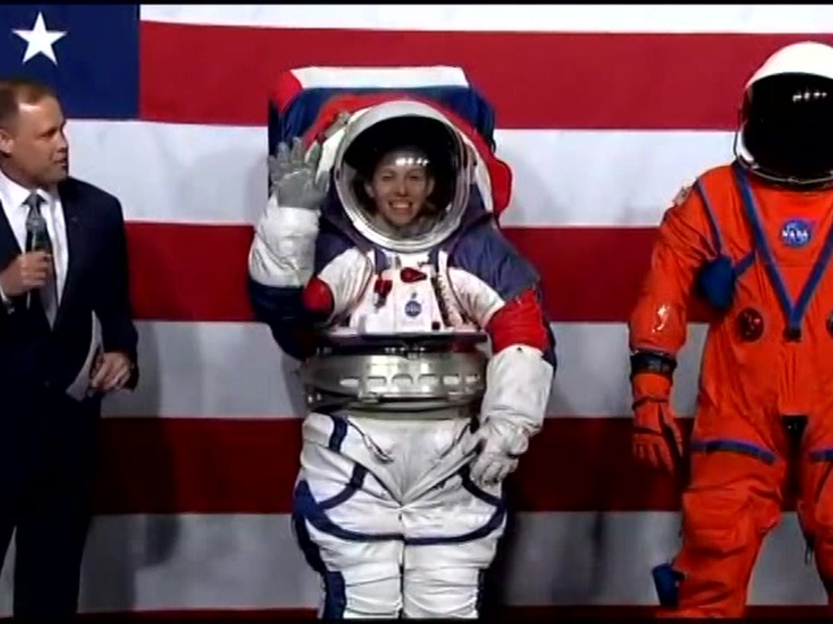NASA unveils new spacesuit for Mars, moon missions