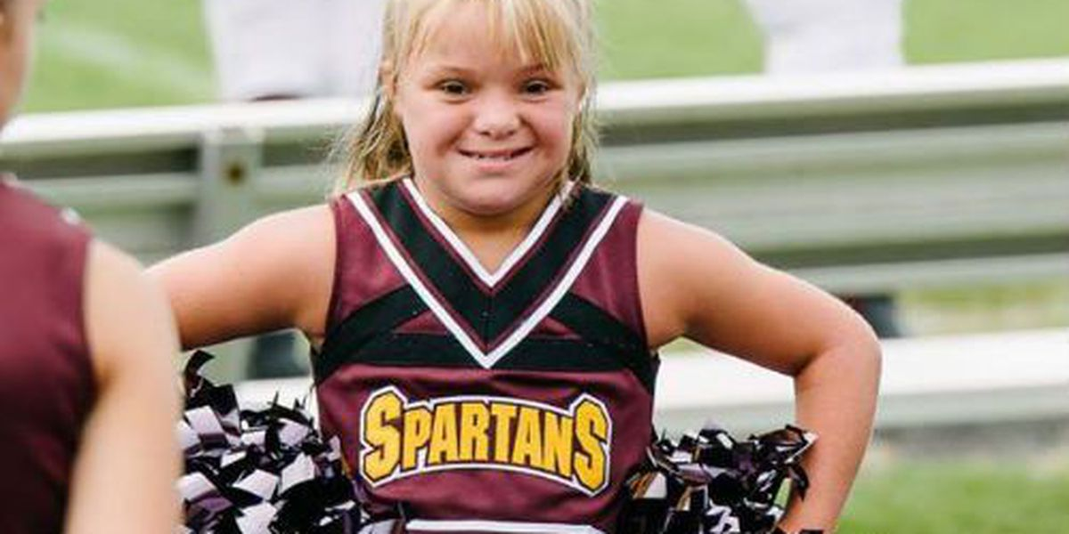 Middle school cheerleader with Down Syndrome inspires others