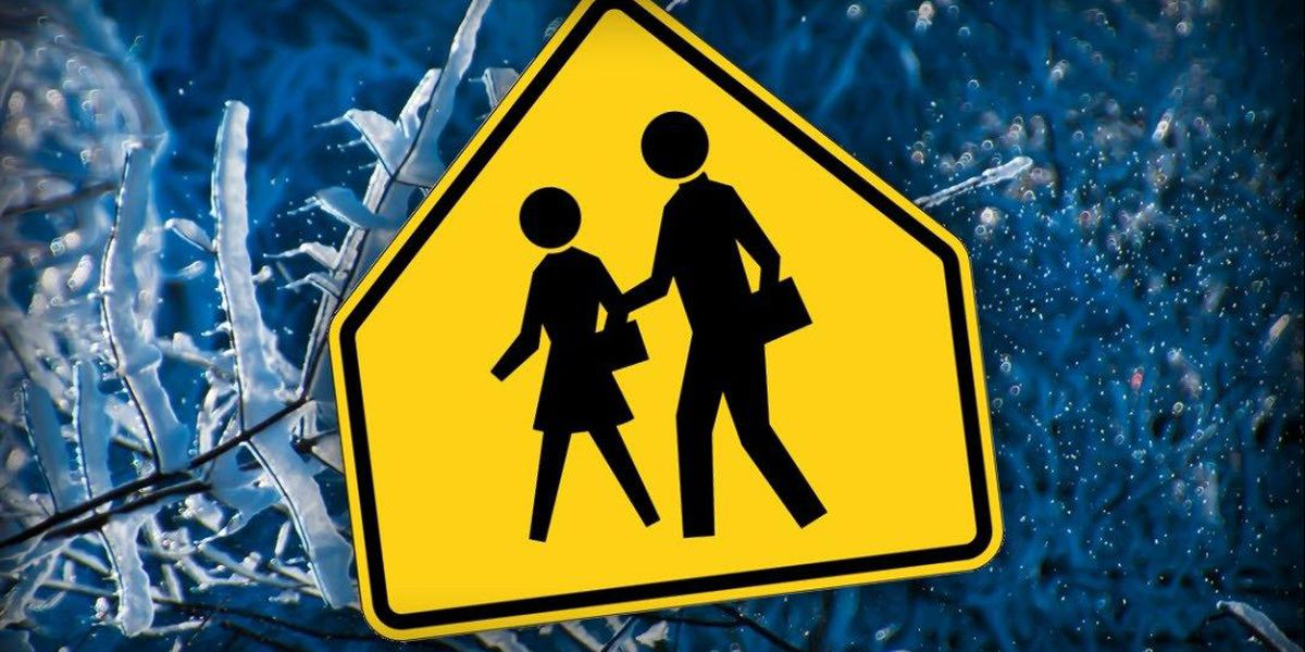 Schools announce closures, delays Wednesday due to inclement weather