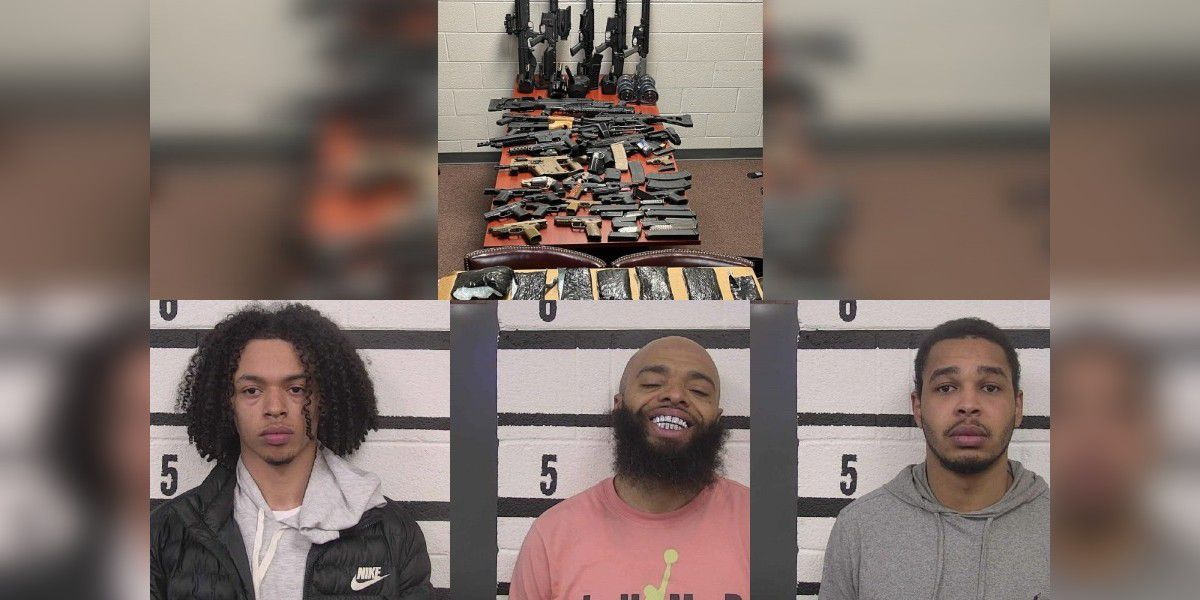 Three arrested after 36,000 fentanyl pills, more than 30 guns seized in Caldwell County drug bust