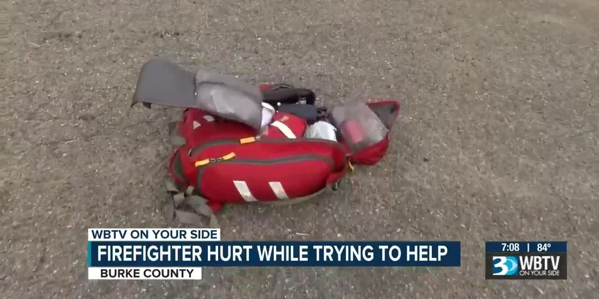 Firefighter hurt while trying to help