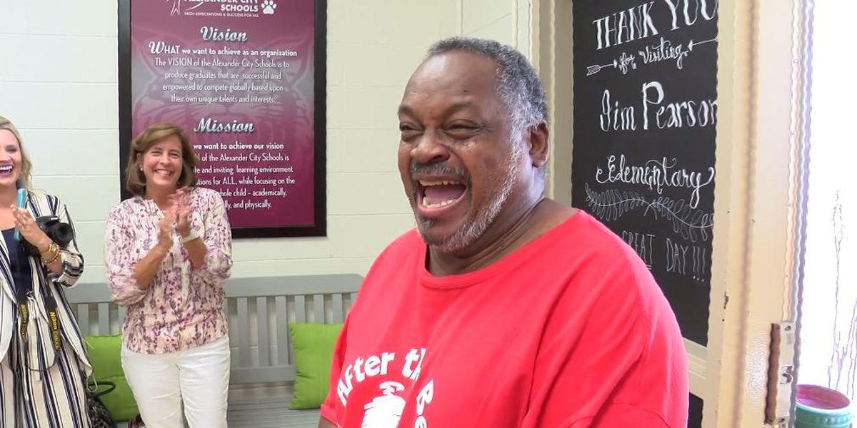 Alabama community buys longtime school custodian a car