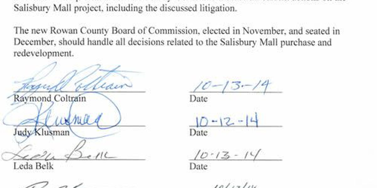 La Resistance says 7 of 8 Rowan Commission candidates want to delay lawsuit over mall purchase; Cohen says why he won't sign