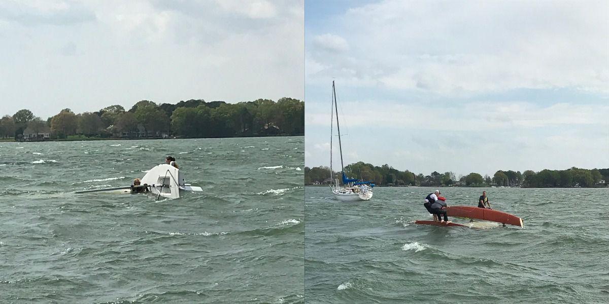 Deputies, good Samaritans rush to help after boats flip over on Lake Norman