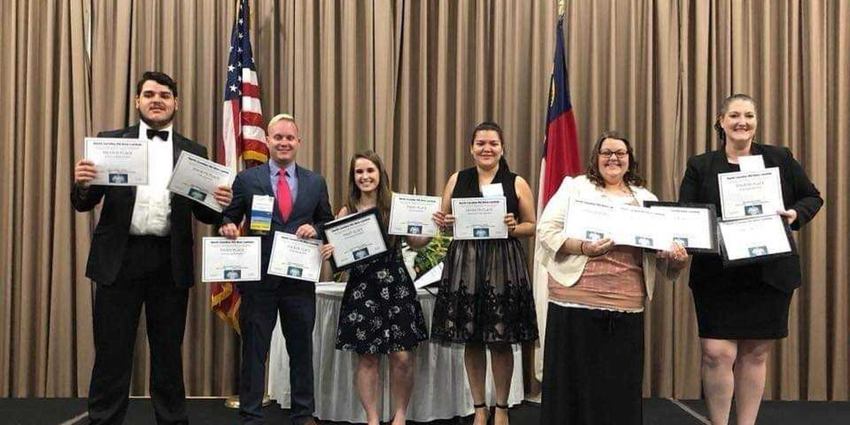 Local business students capture lots of awards at state conference