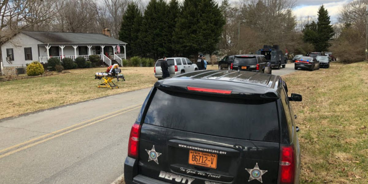 Man wanted in deadly Catawba Co. stabbing taken into custody after hours-long standoff