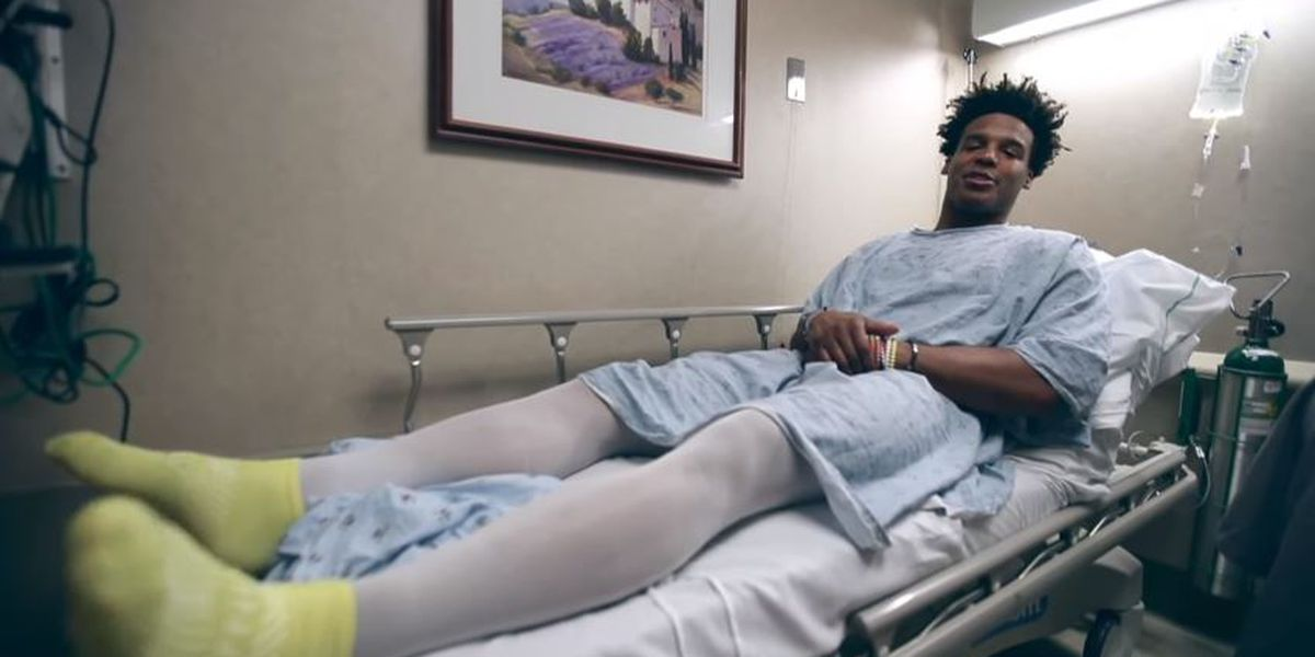Cam Newton gives fans VIP access to offseason shoulder surgery on new Youtube channel
