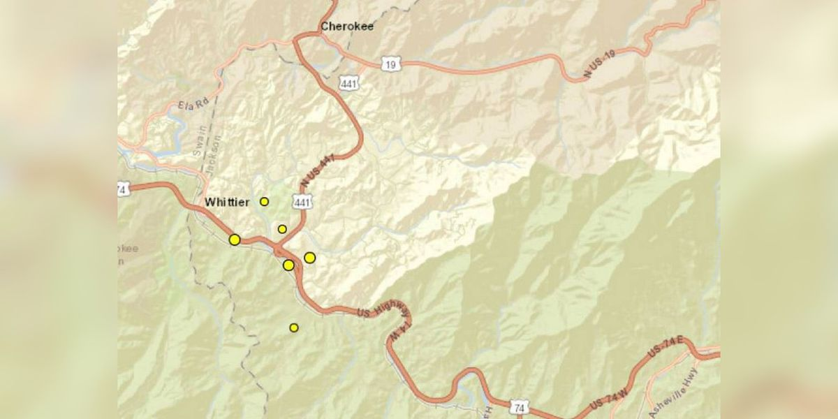 Six earthquakes in five days reported near this Western North Carolina town
