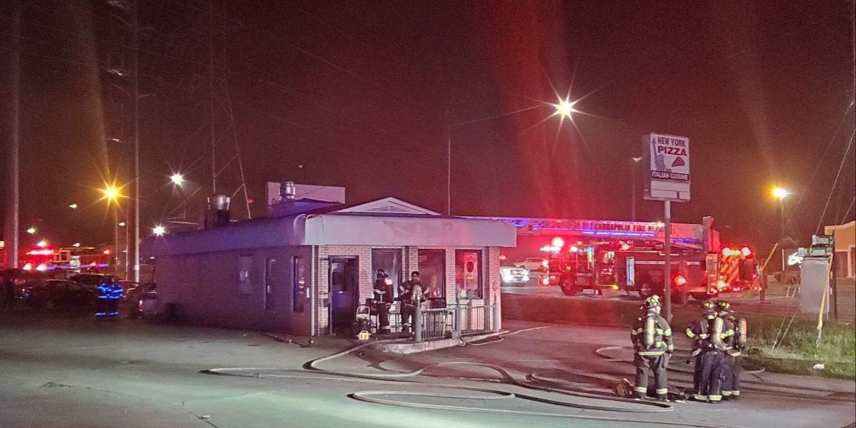 Fire sparks at Kannapolis pizza restaurant