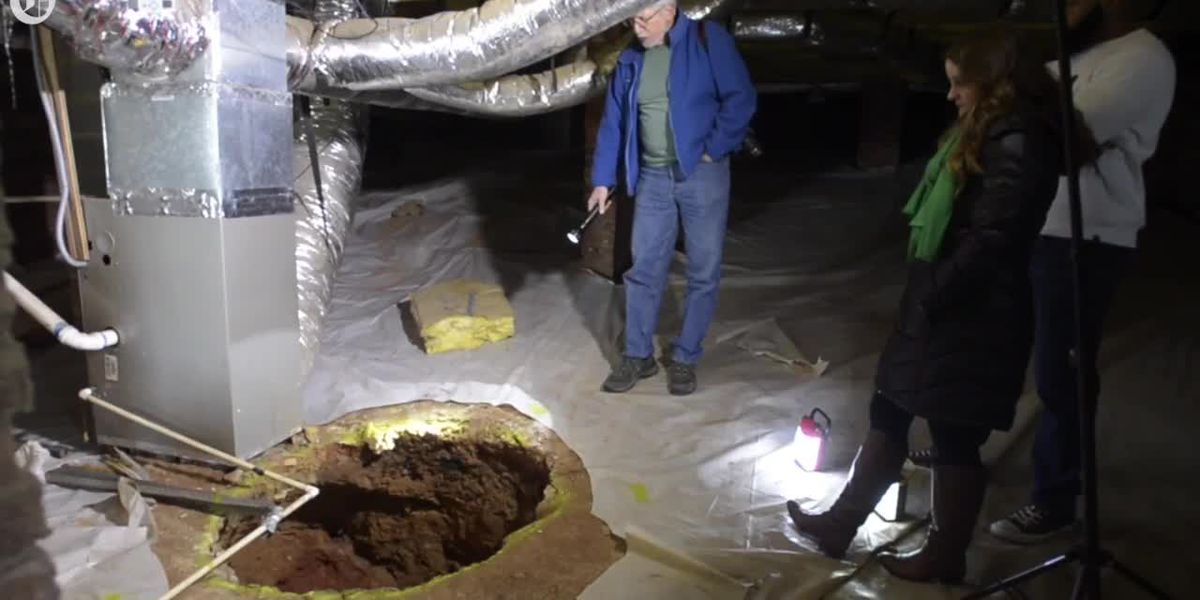 Mine shaft found under Charlotte house could be 150-year-old tunnel to gold