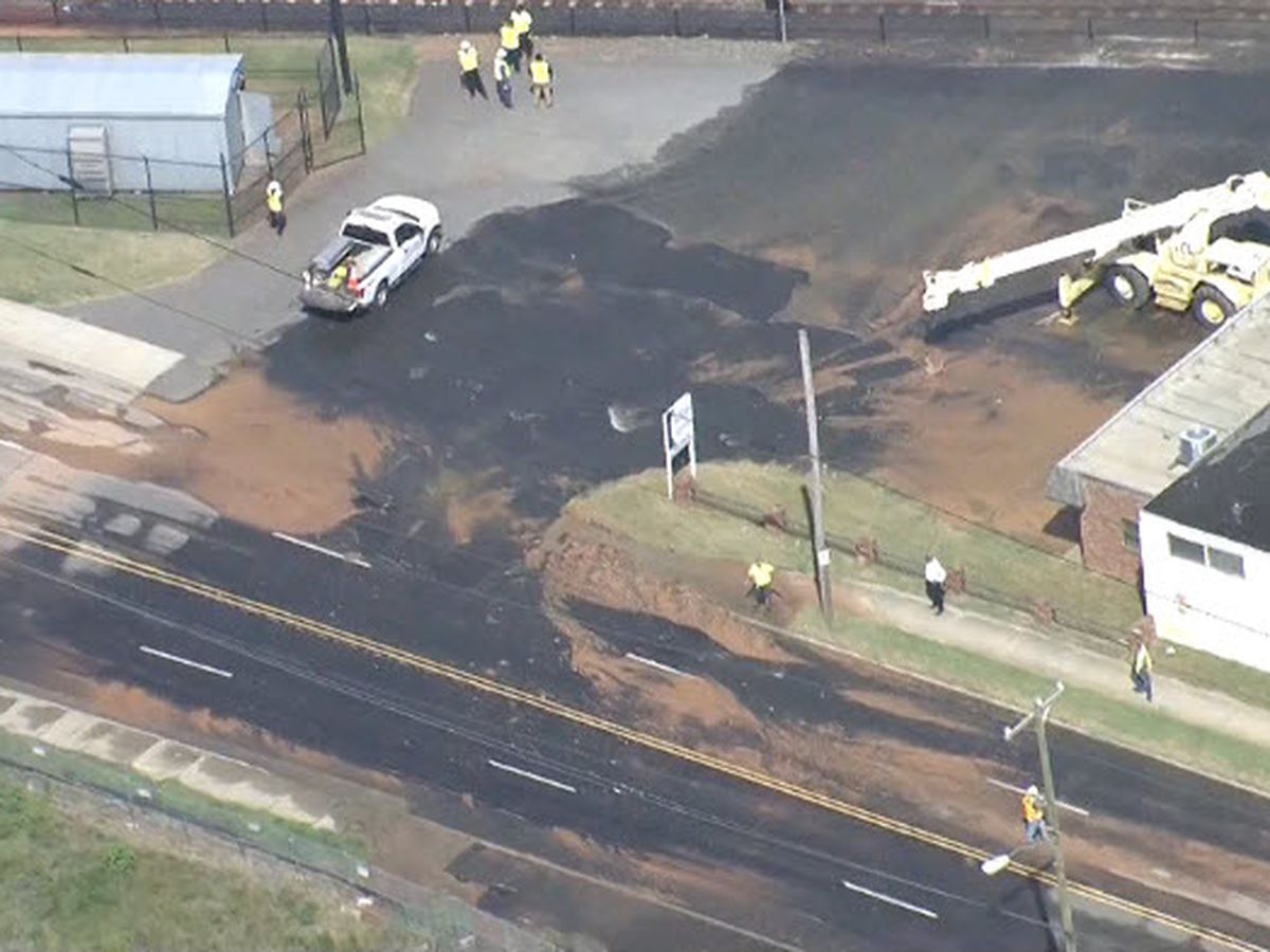 Section of South Blvd to be closed through rush hour after water main break