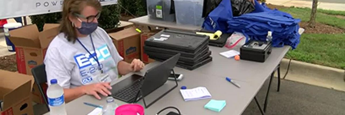 Lowe's donates laptops for students to end the digital divide