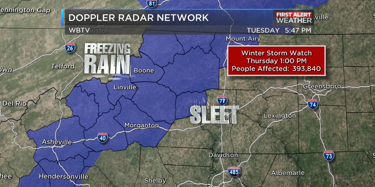 Threat of freezing rain, ice increasing as Winter Storm Watch takes effect