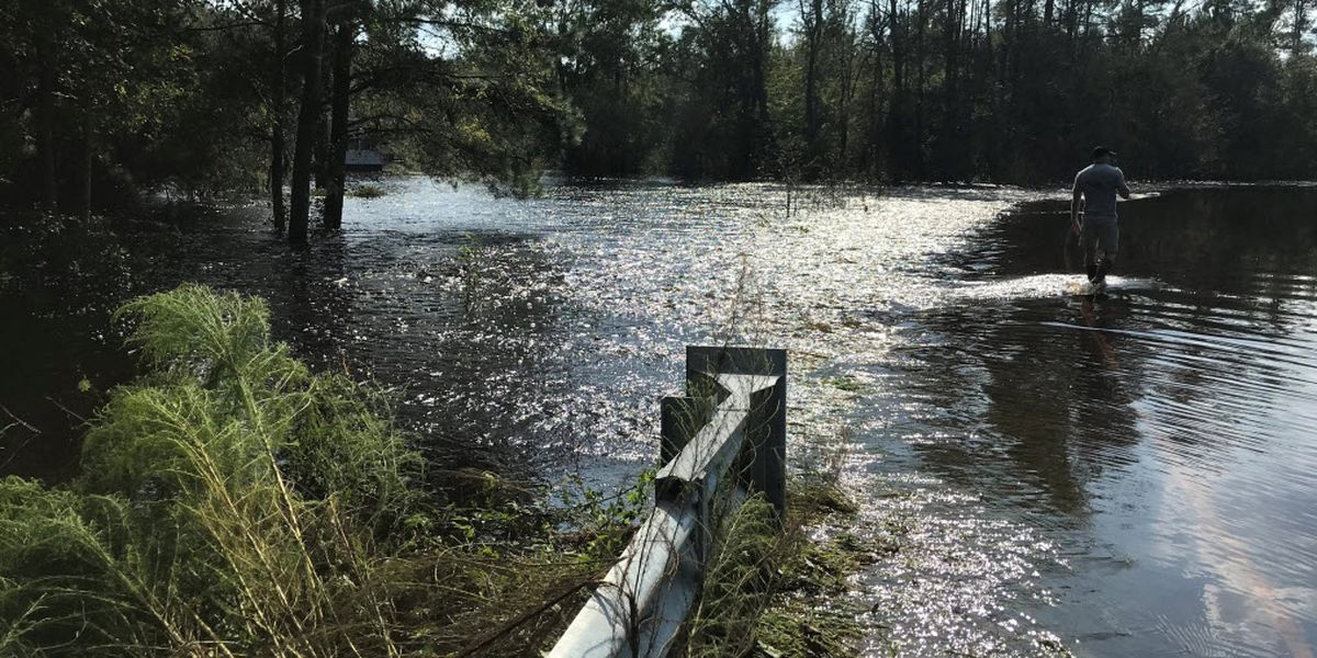Flooding from Florence filling rivers, roads in southeastern NC
