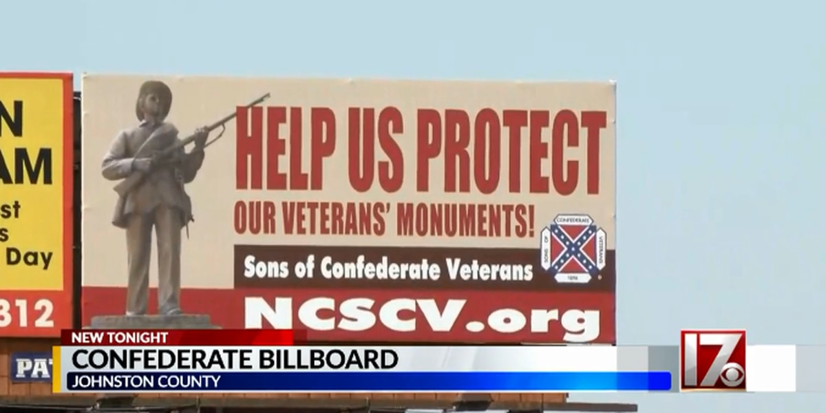 NC billboard aims to generate support for keeping Confederate monuments