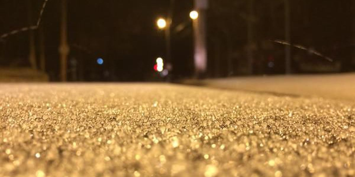 Sleet, freezing rain cover Salisbury streets after winter storm