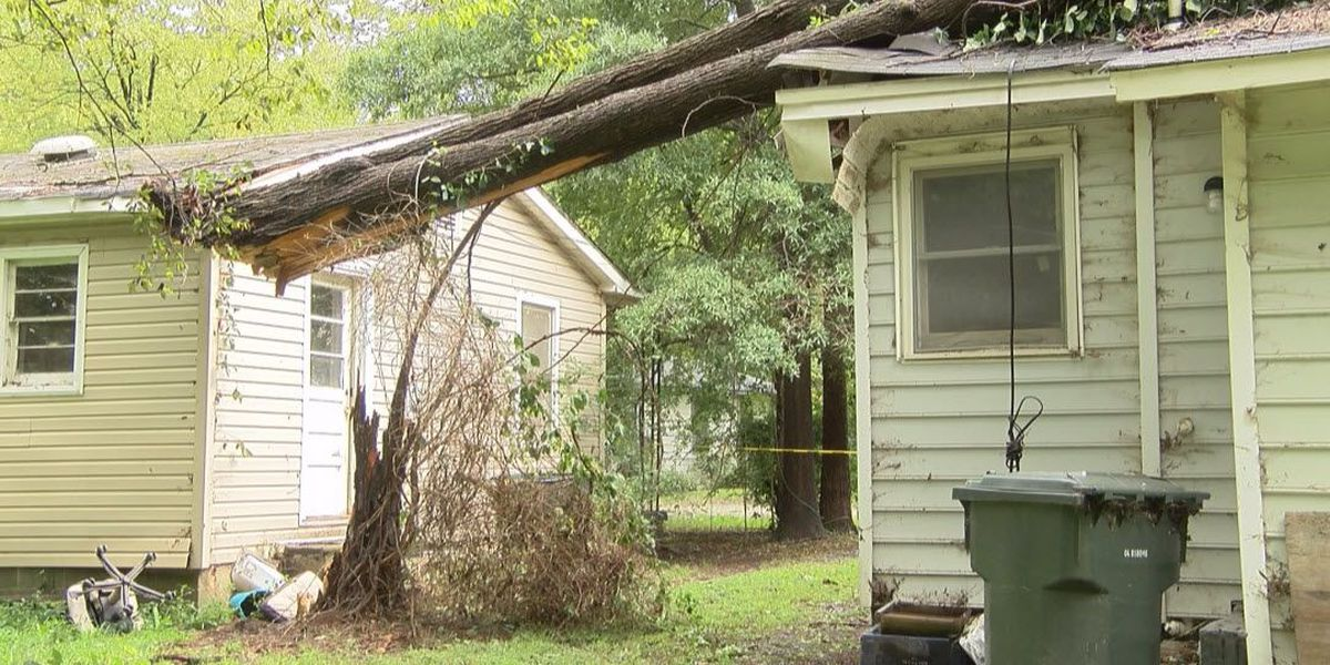 Rock Hill and Lancaster homes crushed by downed trees