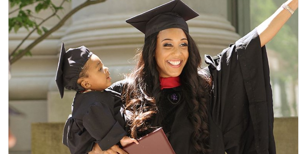 Single mom who went into labor during final exam graduates from Harvard Law School