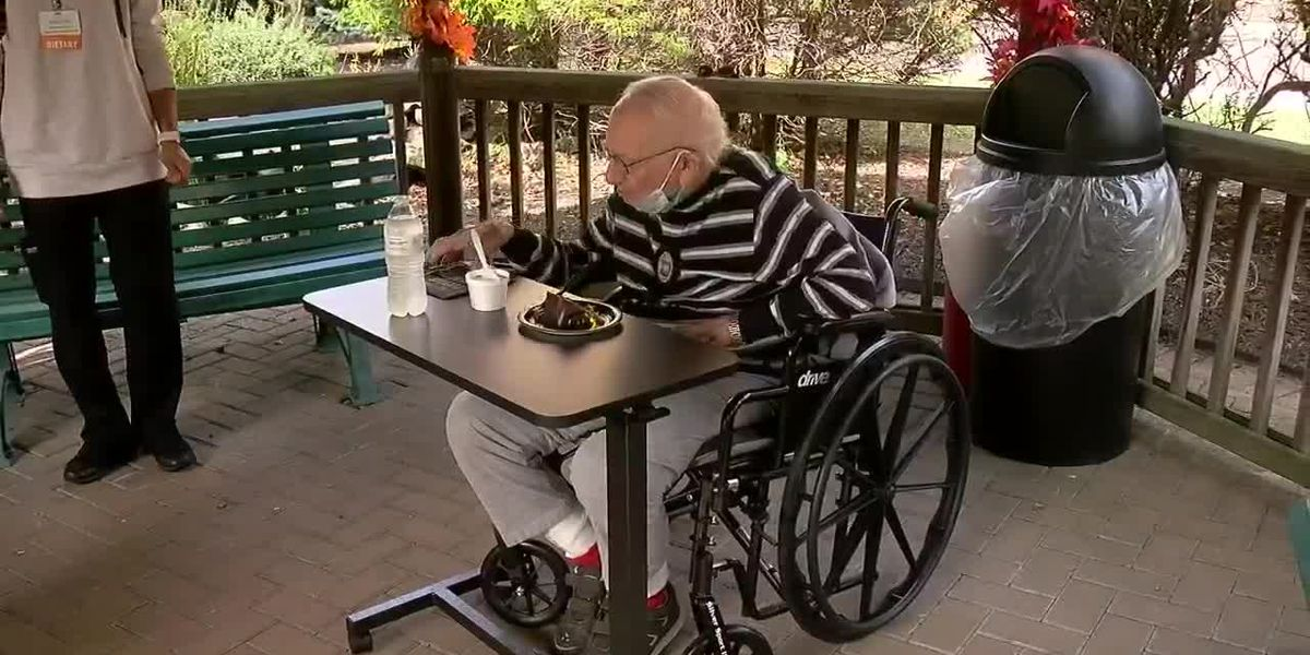 WWII vet celebrates 100th birthday with his first birthday party ever