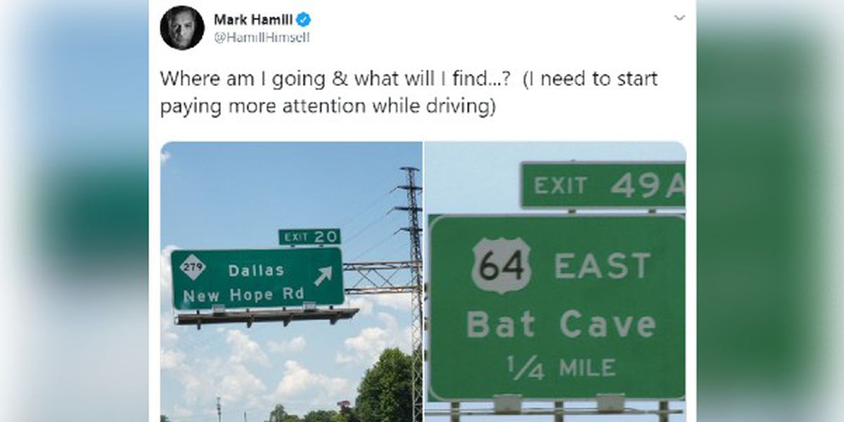 Star Wars actor Mark Hamill crossed galaxies, but these NC exit signs baffled him