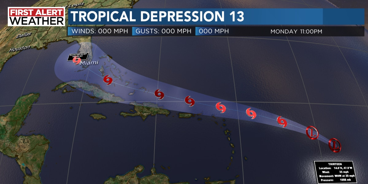 Tropical Depression 13 forms
