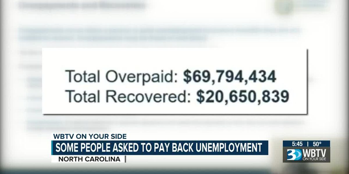 Some people asked to pay back unemployment