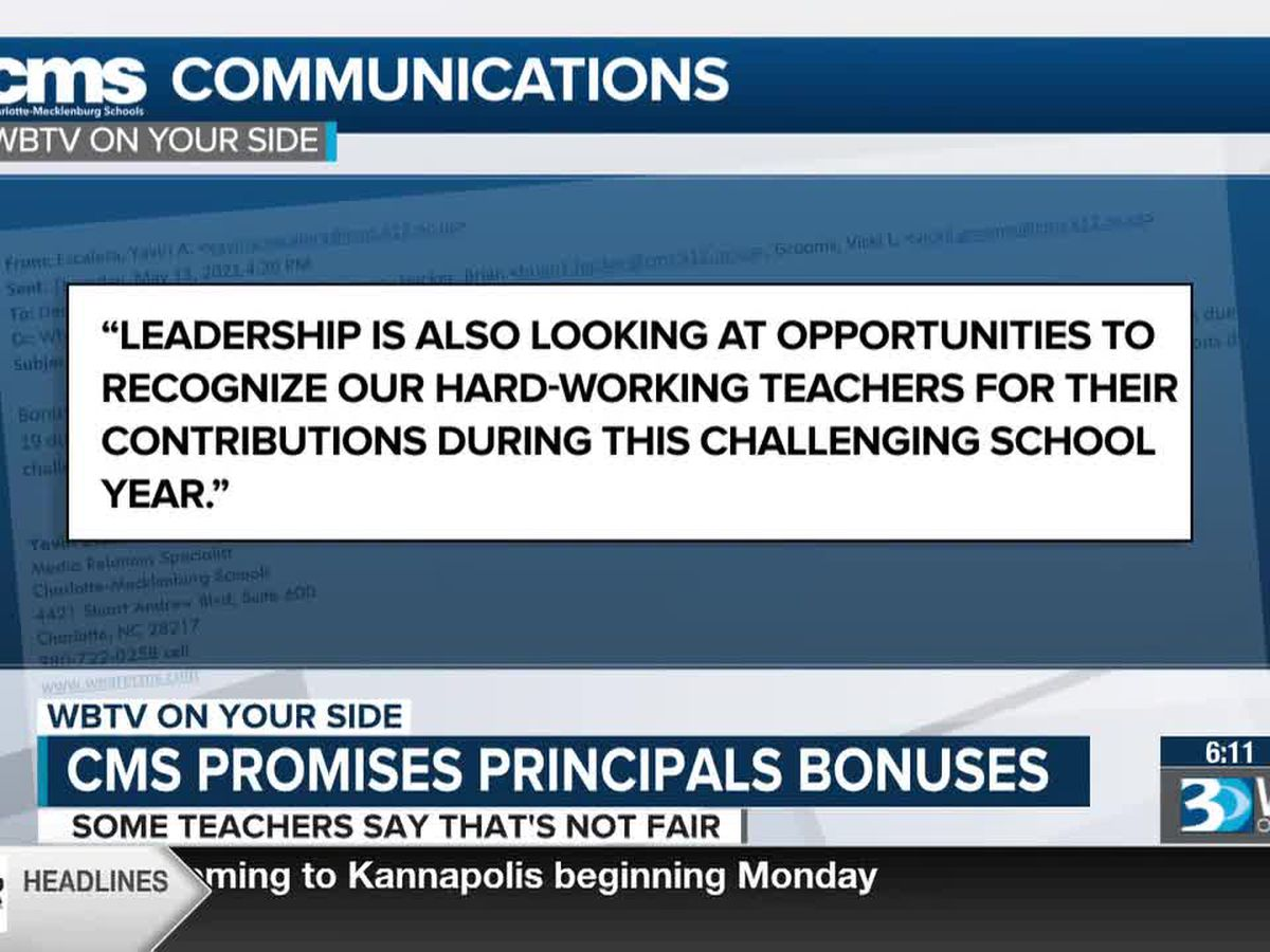 CMS principals get bonus - teachers ask what about them?