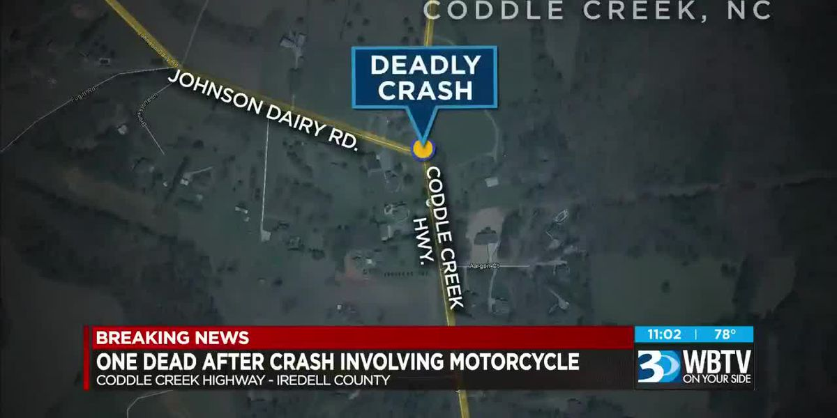 Person killed in crash involving motorcycle in Iredell County