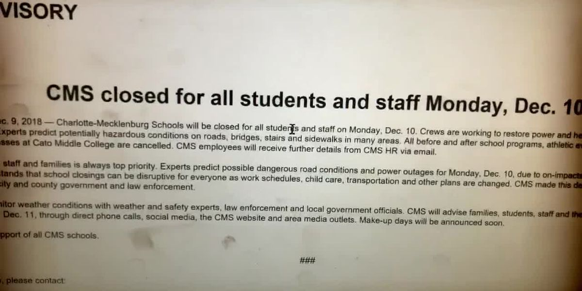 CMS closed for all students and staff Monday
