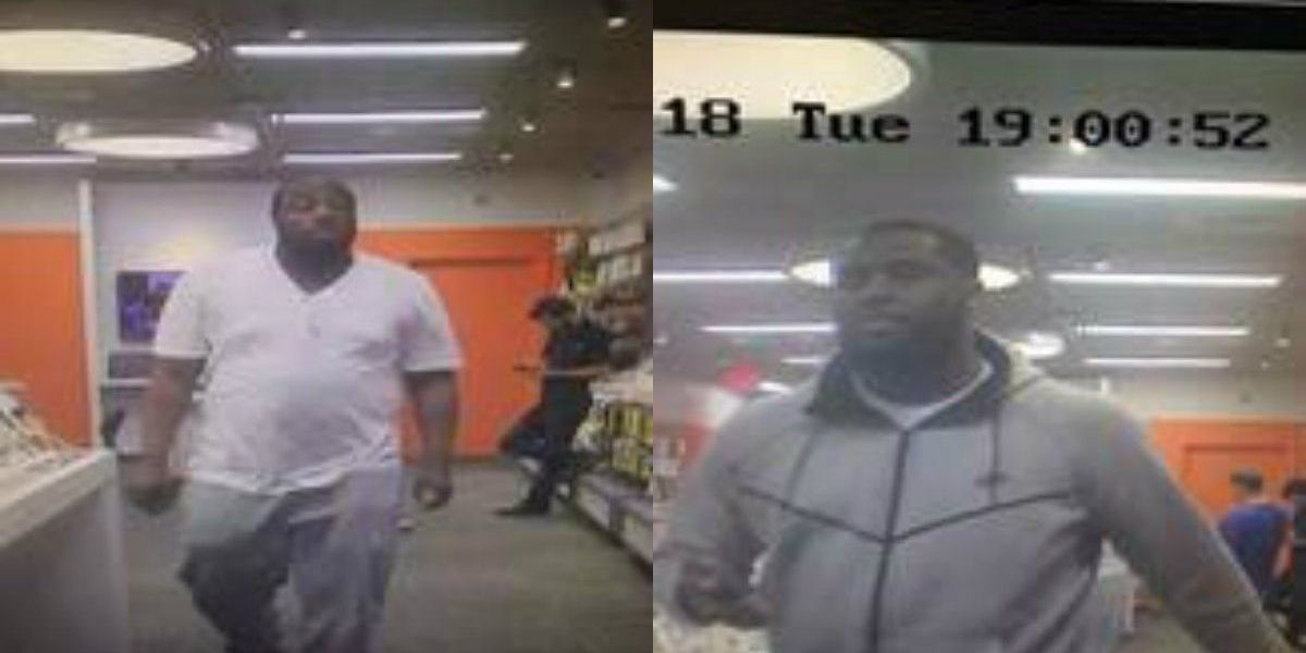 Men wanted for allegedly stealing from phone store in Matthews