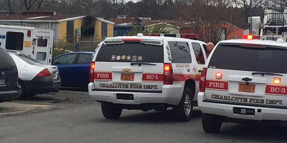 No injuries in west Charlotte building fire