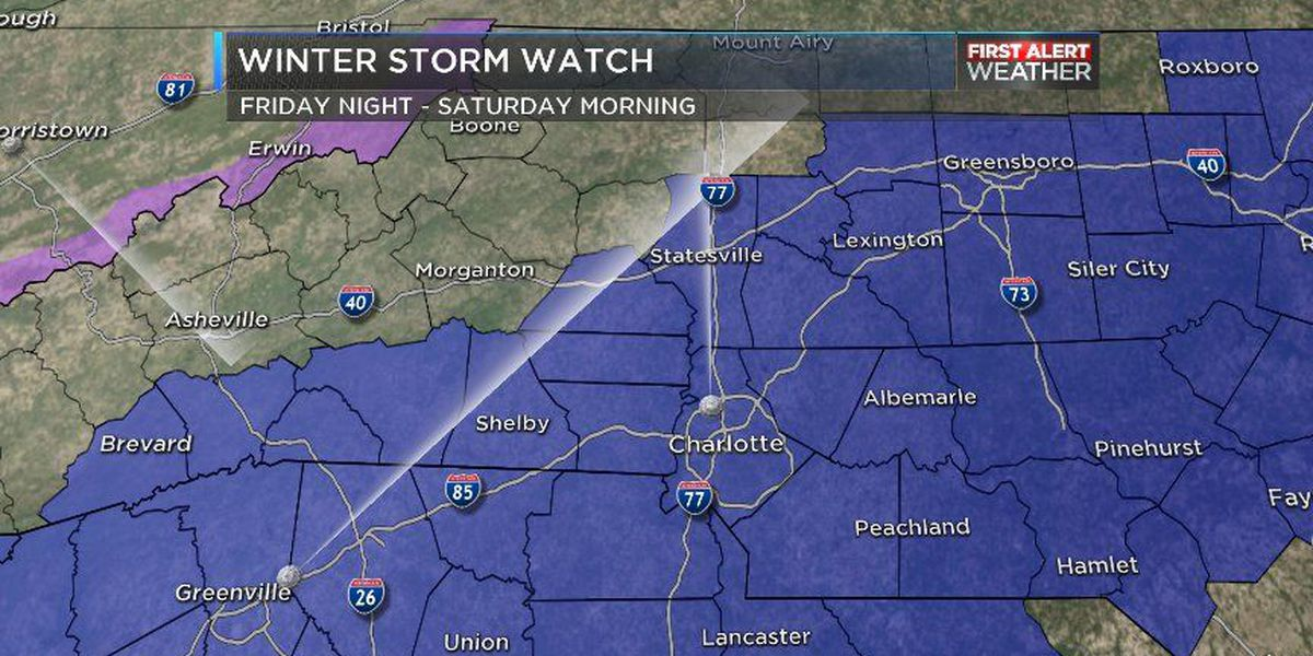 FIRST ALERT: A Winter Storm Watch is now in effect