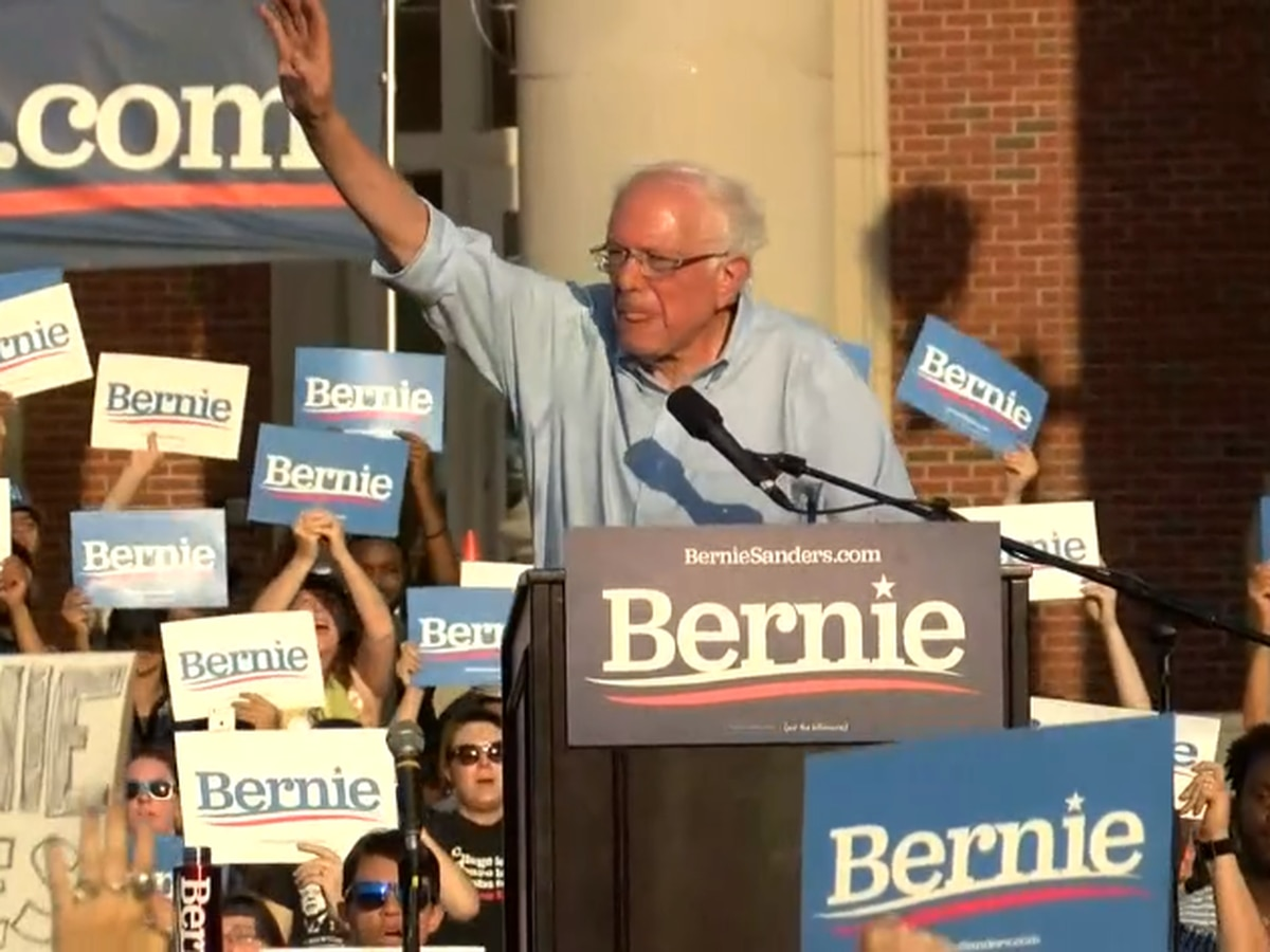 Presidential hopeful Bernie Sanders holds campaign rally in Charlotte