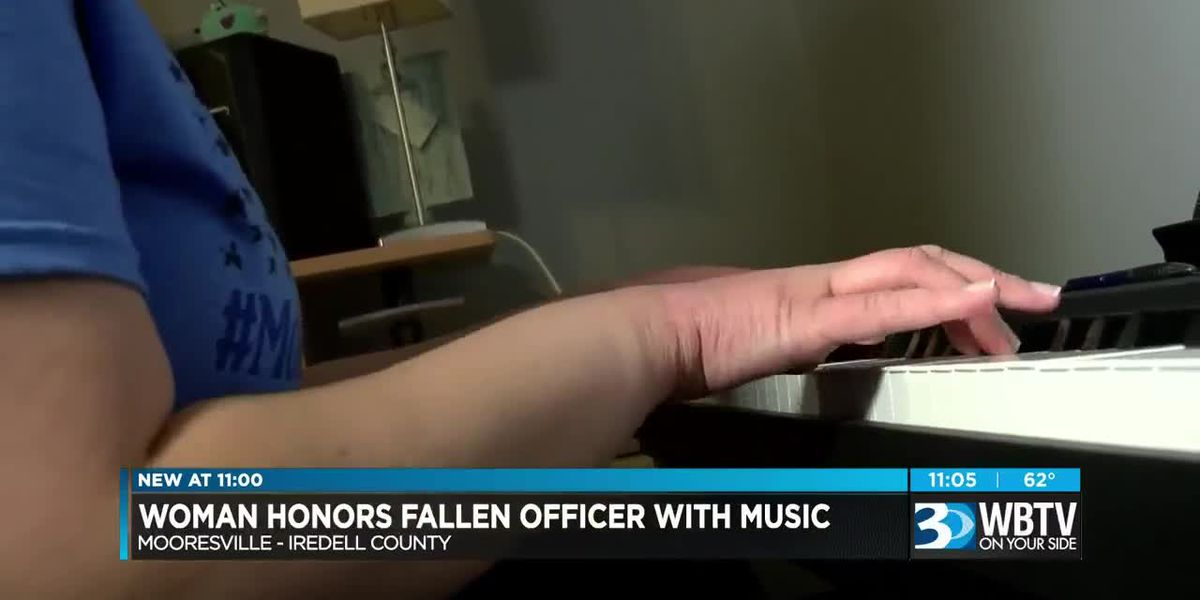 Woman honors fallen Mooresville police officer with music