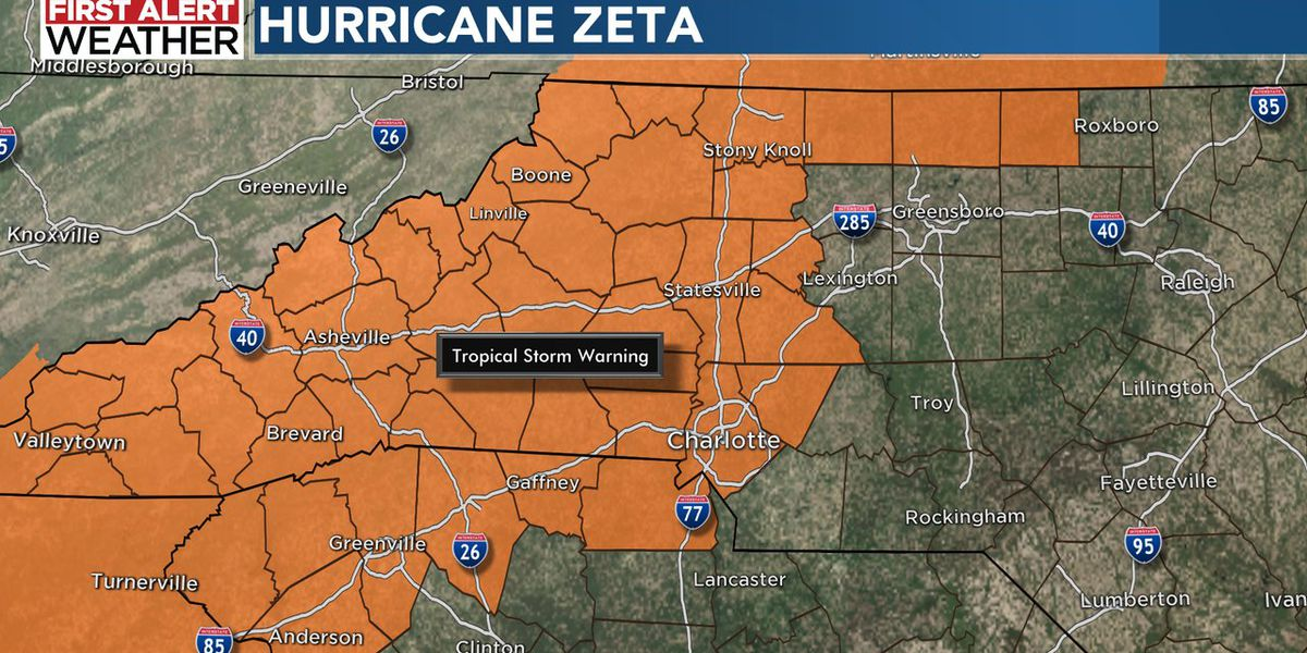 FIRST ALERT: Tropical Storm Warning in effect across Carolinas as powerful Hurricane Zeta makes landfall in Louisiana