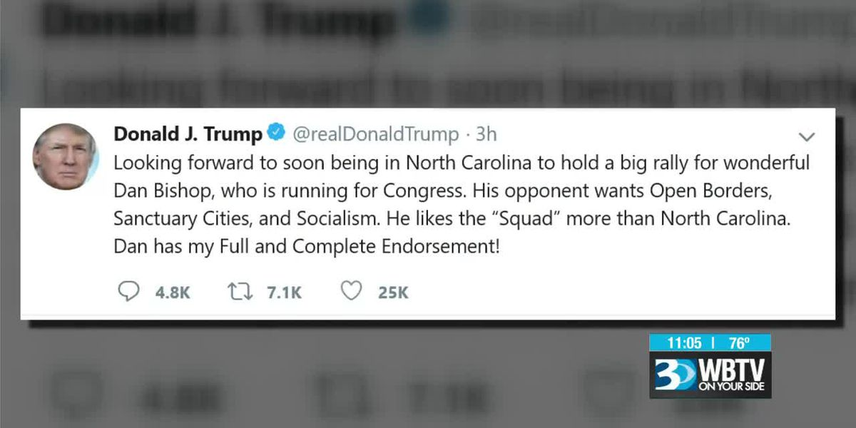 President Trump tweets about another potential rally in NC