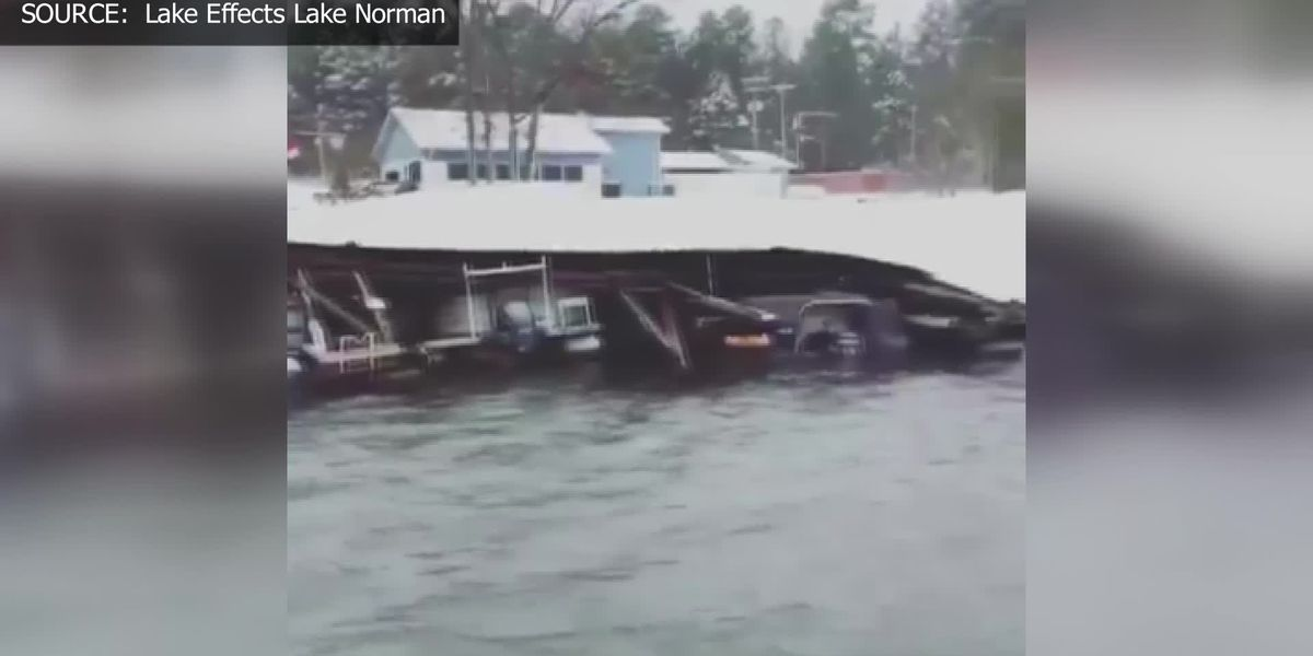 Marina collapse in Lake Norman