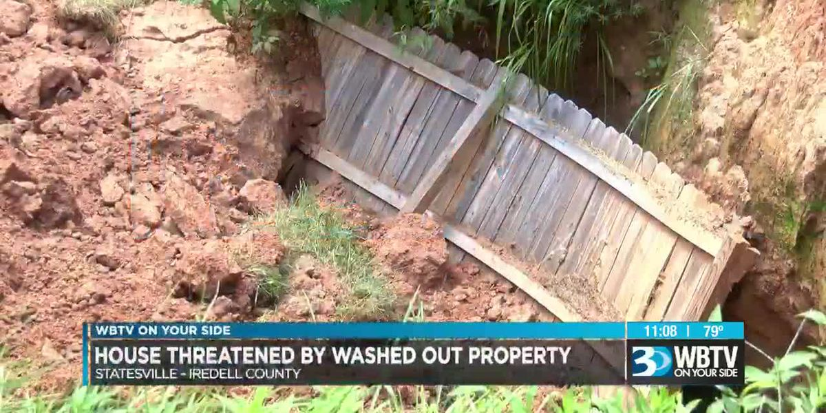 Major washout may force couple from their home in Statesville