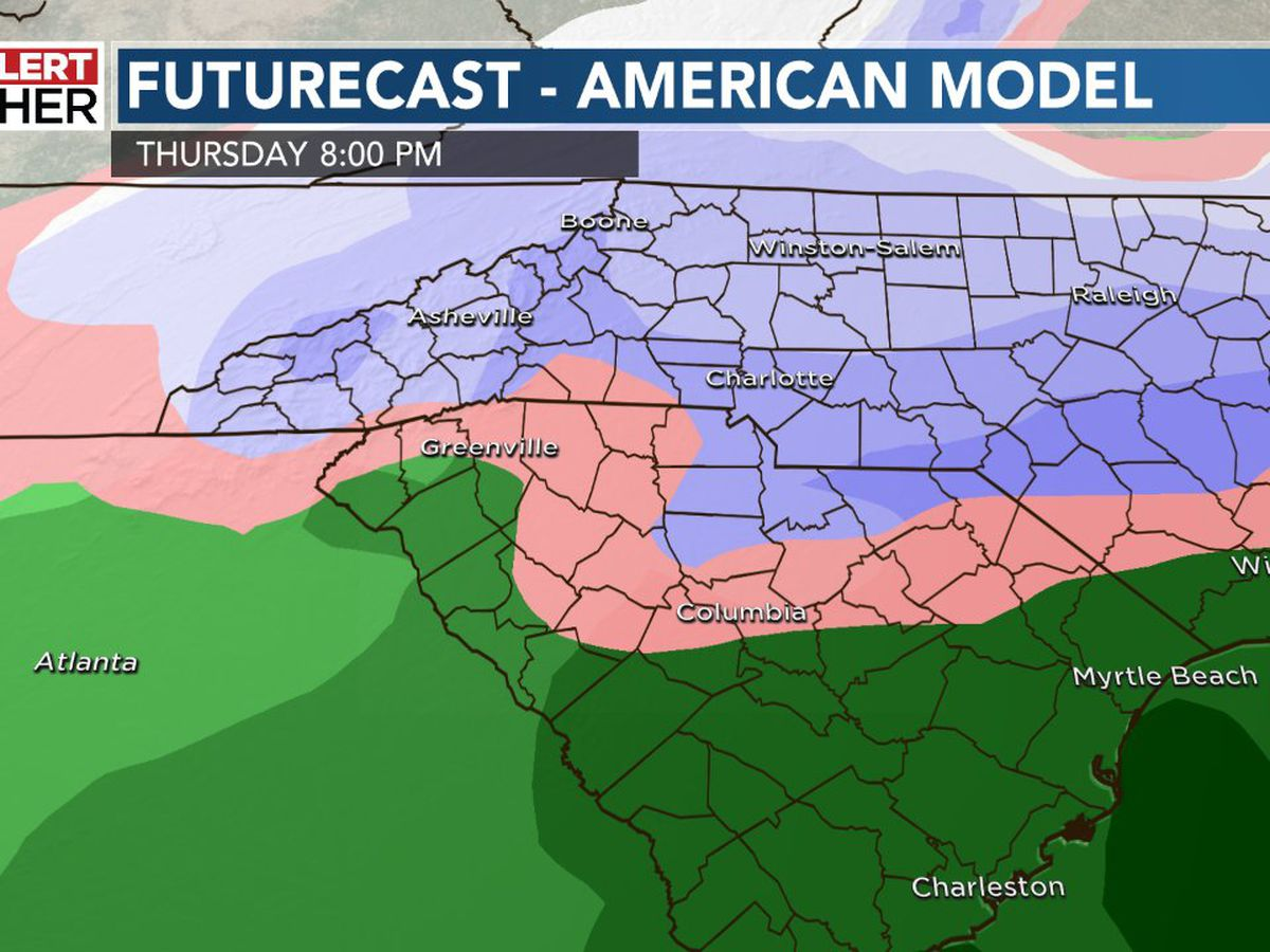 First Alert: Rain today, wintry mix possible Thursday