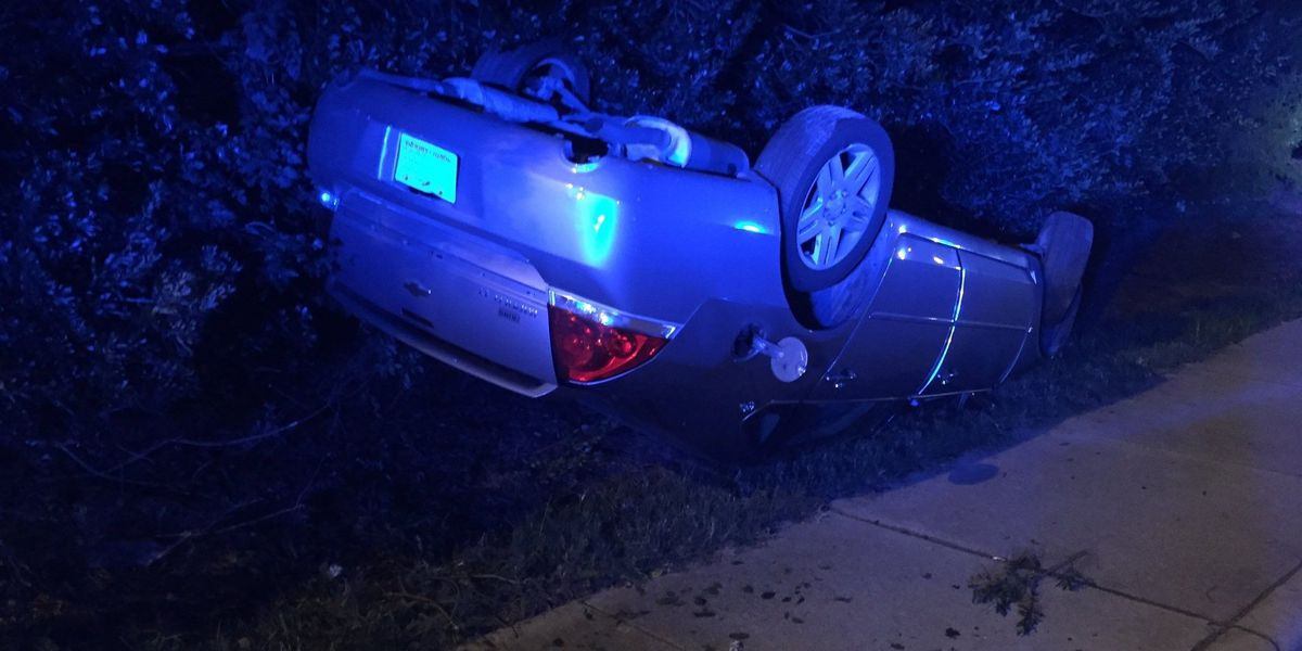 Driver escapes rollover crash with minor injuries, police say