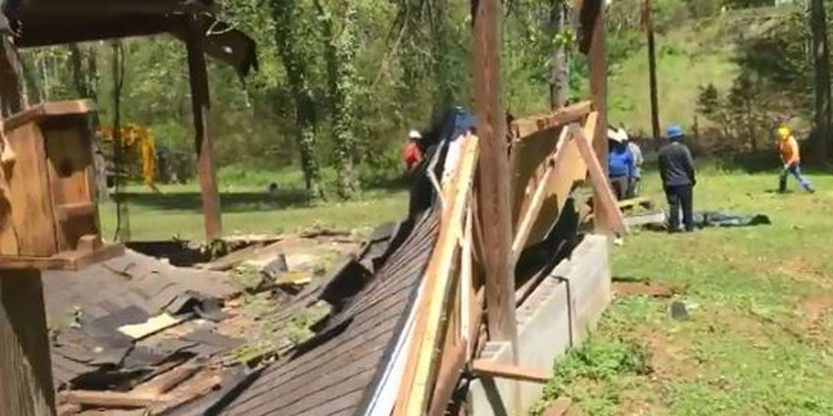 Cleanup continues after EF-1 Tornado in Alexander County on Friday