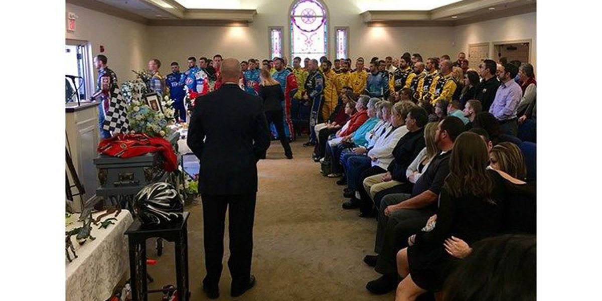 NASCAR drivers, community honor Hickory boy at funeral service