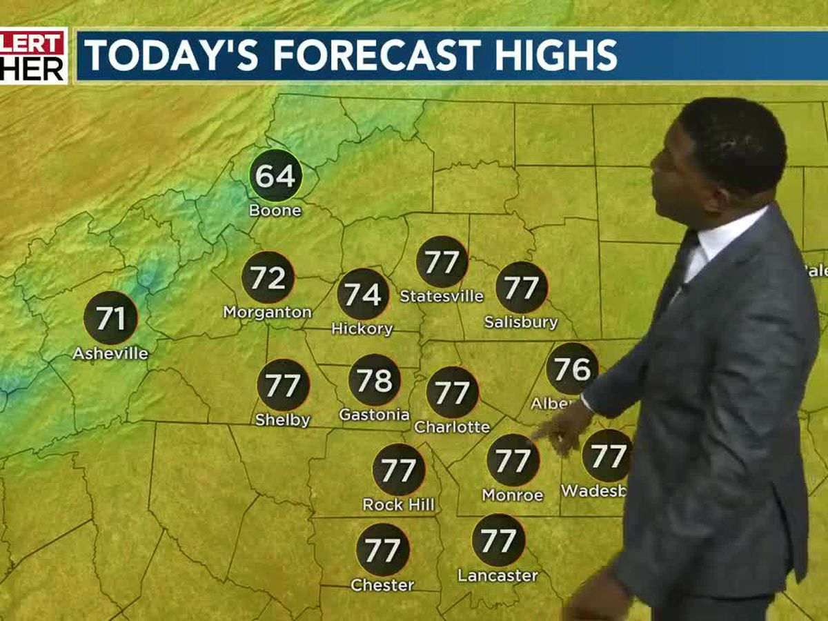 High pressure returns keeping rain chances low, temperatures mild