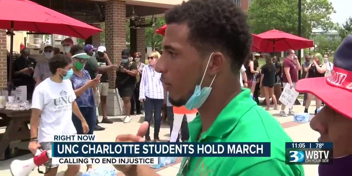 UNC Charlotte students march to end injustice: 'a journey toward change'