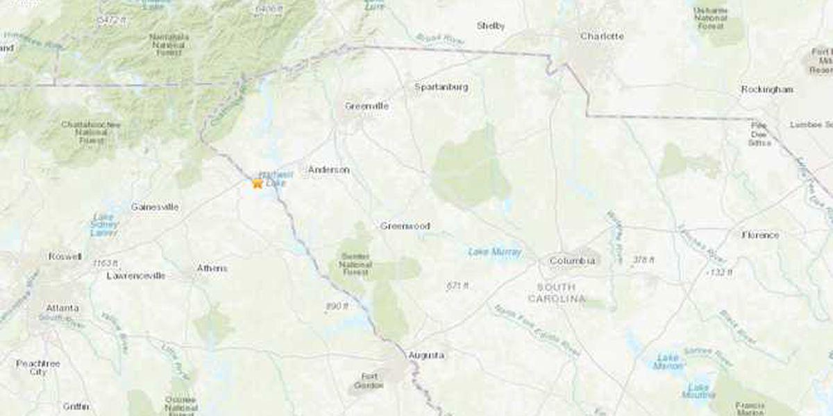 Earthquake reported near Clemson, S.C.