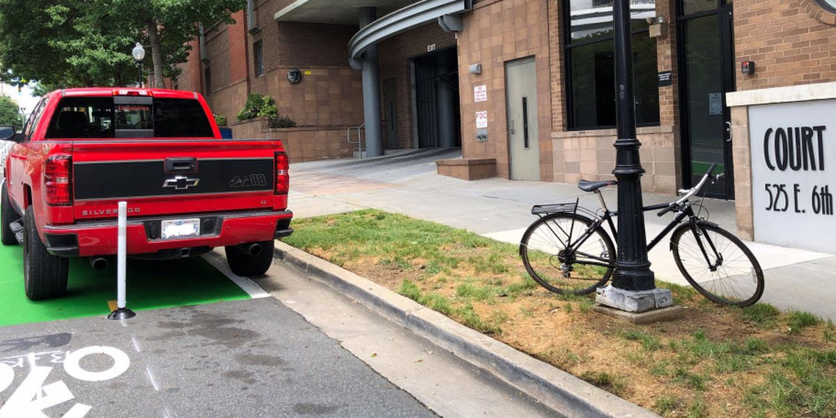 Officials cracking down on drivers parking, driving in bike lanes