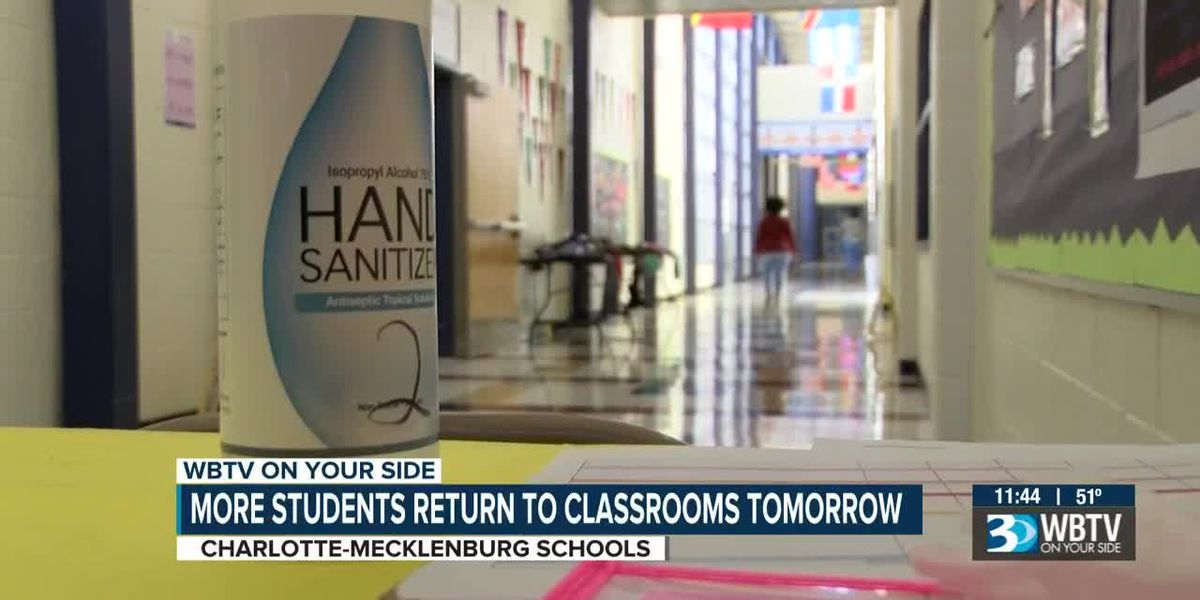 Teachers feel anxious ahead of more CMS students return to in-person learning Monday
