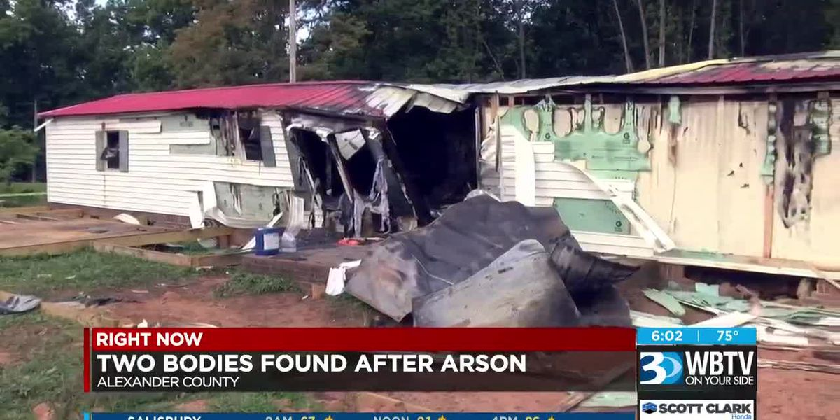Two bodies found after arson in Alexander County