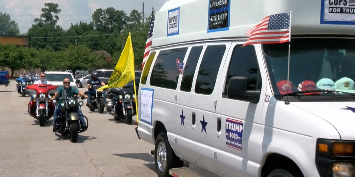 President Trump supporters host car parade in support of law enforcement
