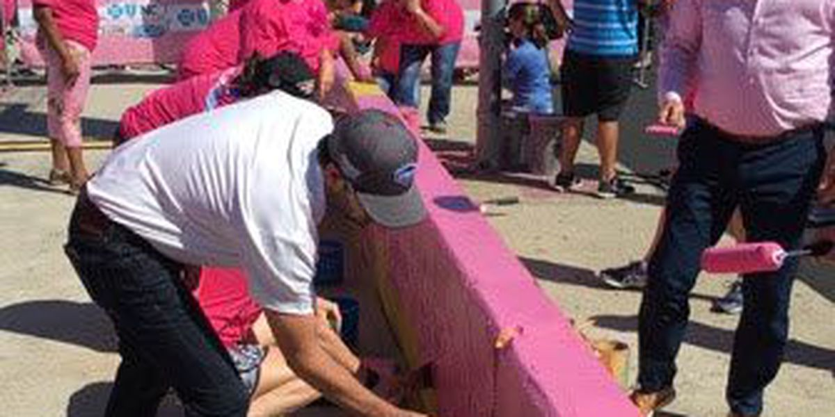 Painting Charlotte Motor Speedway Pink with Jimmie Johnson